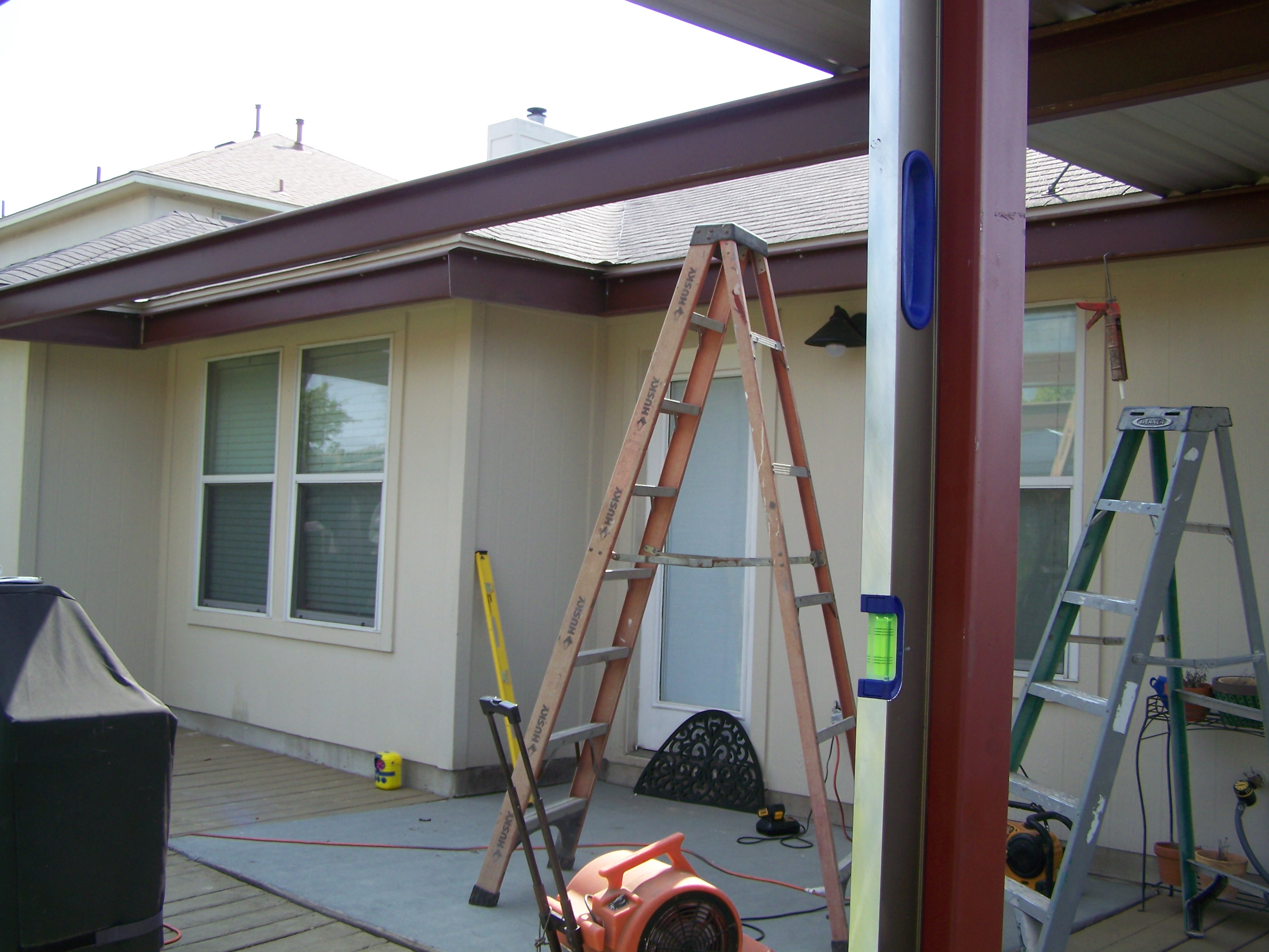 Hutto, Texas Attached Porch Awning - Carport Patio Covers Awnings