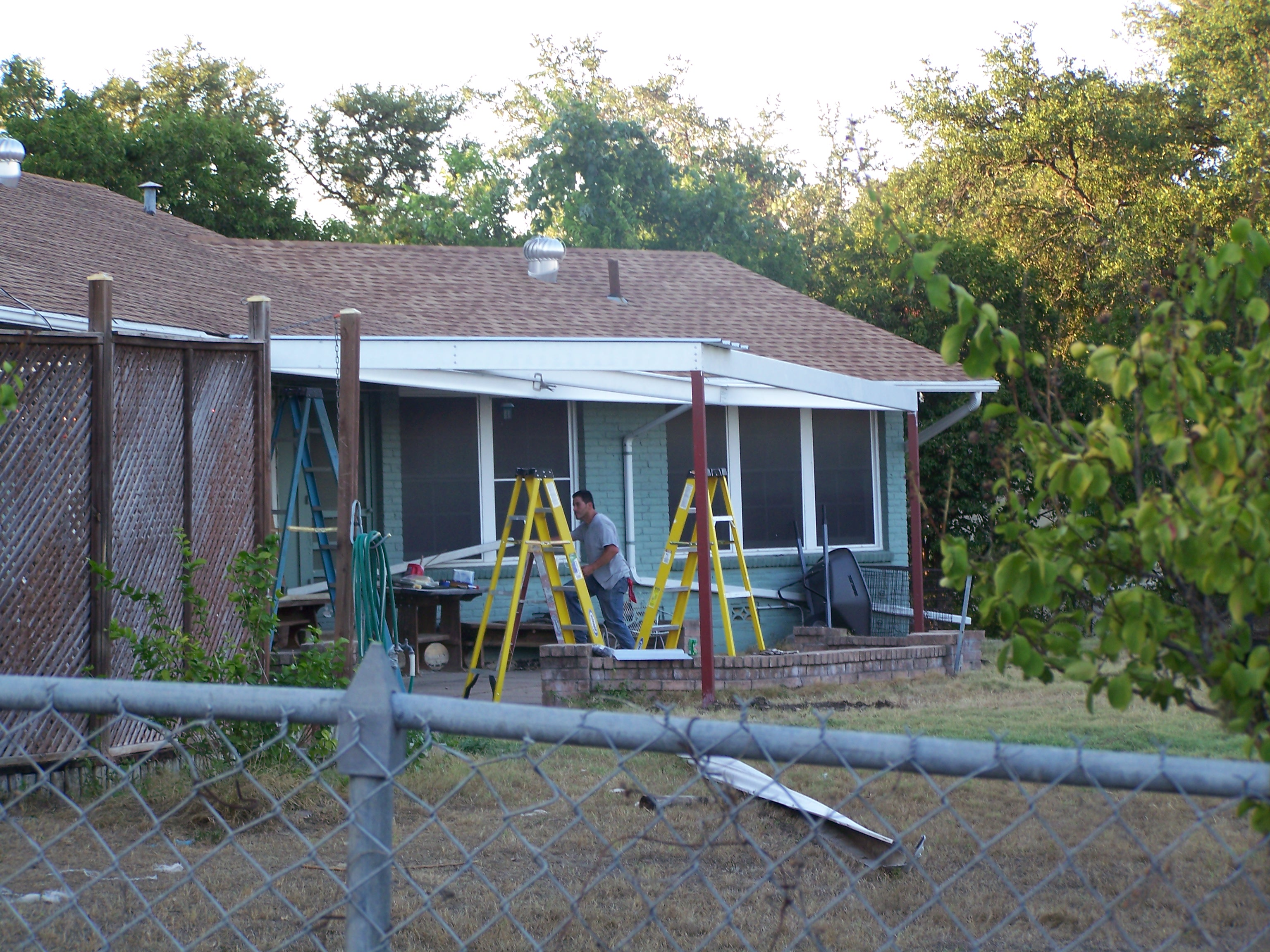 All Steel Attached Home Patio Awning Northwest San Antonio Carport