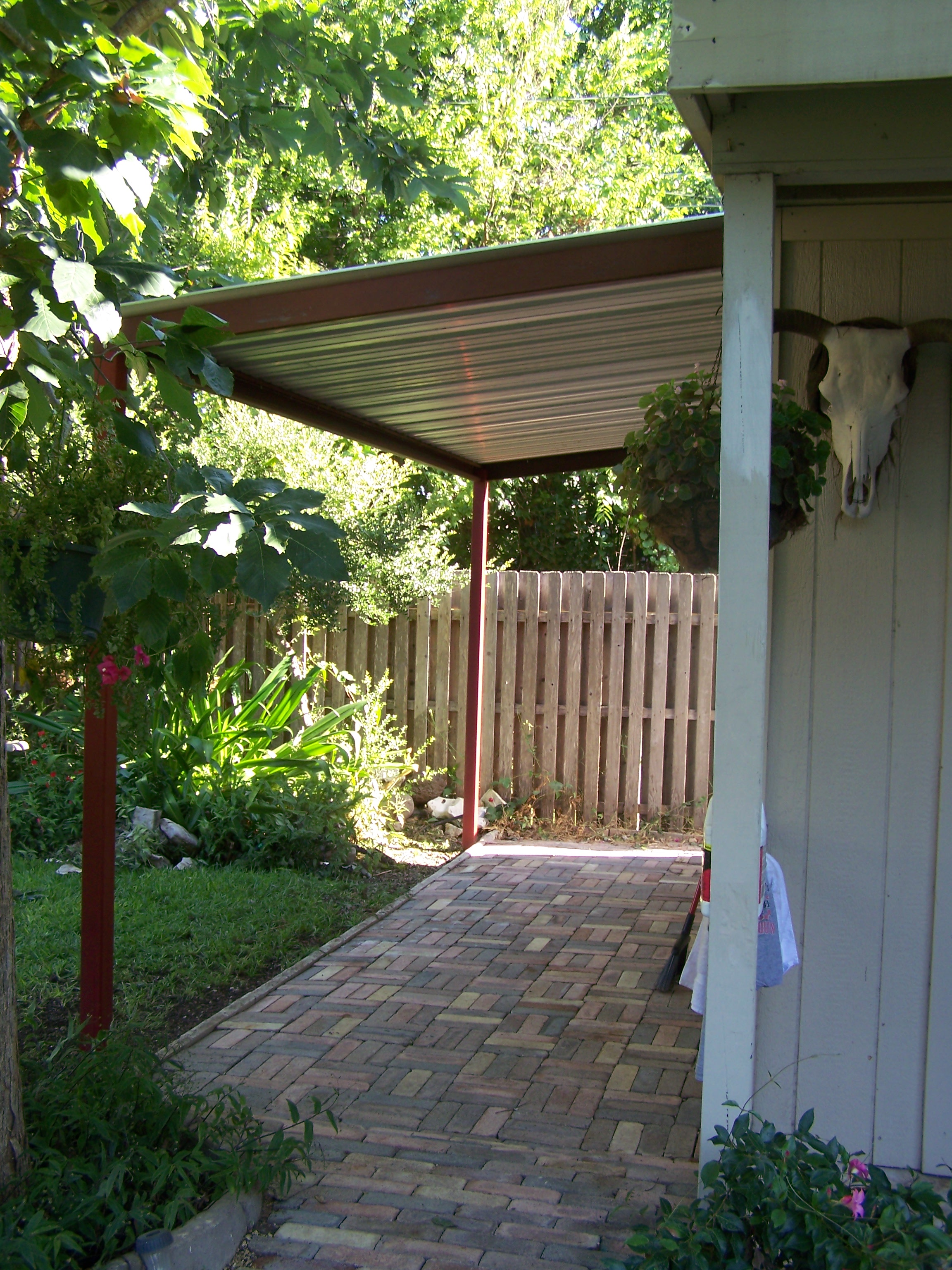 North side San Antonio Attached Steel Home Awning ...