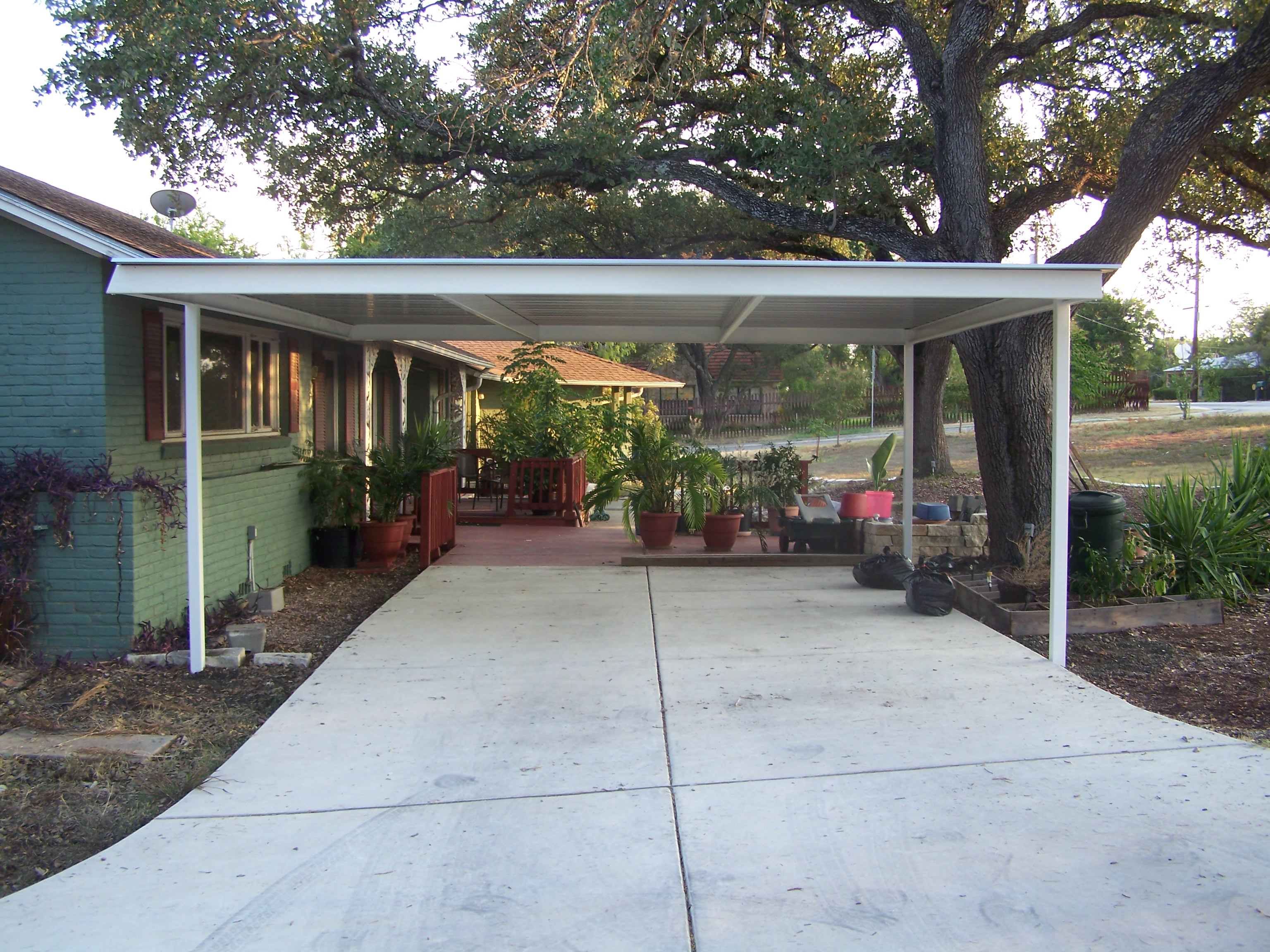Northwest San Antonio Attached Carport Carport Patio