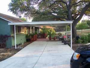 Northwest San Antonio Attached Carport