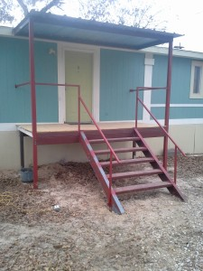 Porch Patio Covers and Decks with Handrails, Floresville, Texas