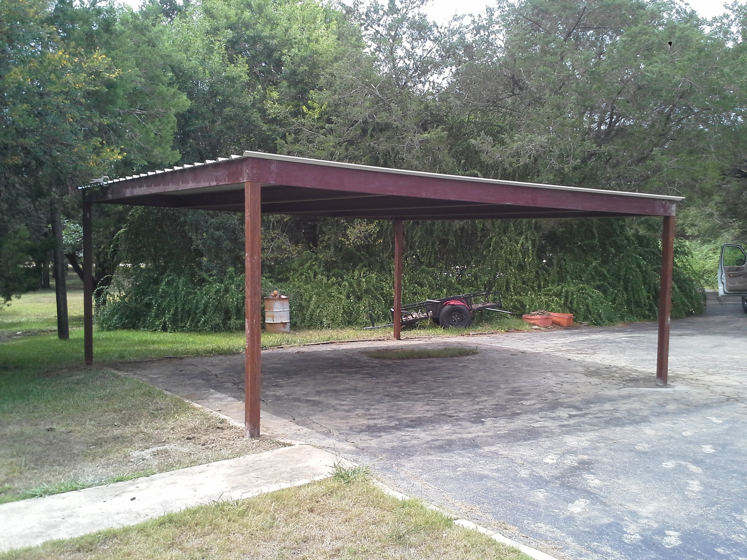 Free Standing All Metal Carport Karnes County Texas
