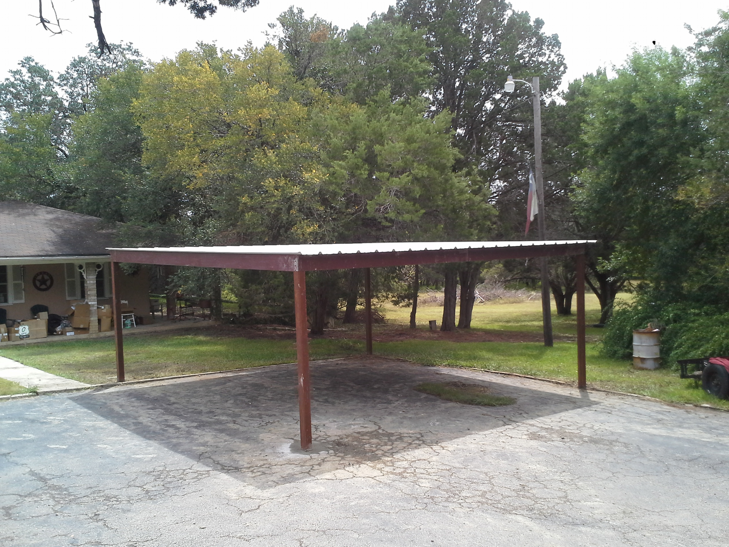 All Metal Carport : Free standing all metal carport karnes county texas