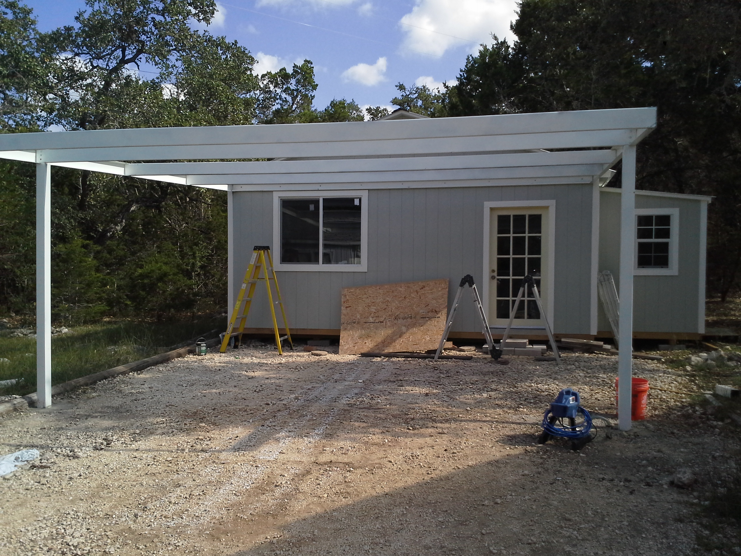 Custom Metal Carports : Cotulla texas attached custom all steel carport