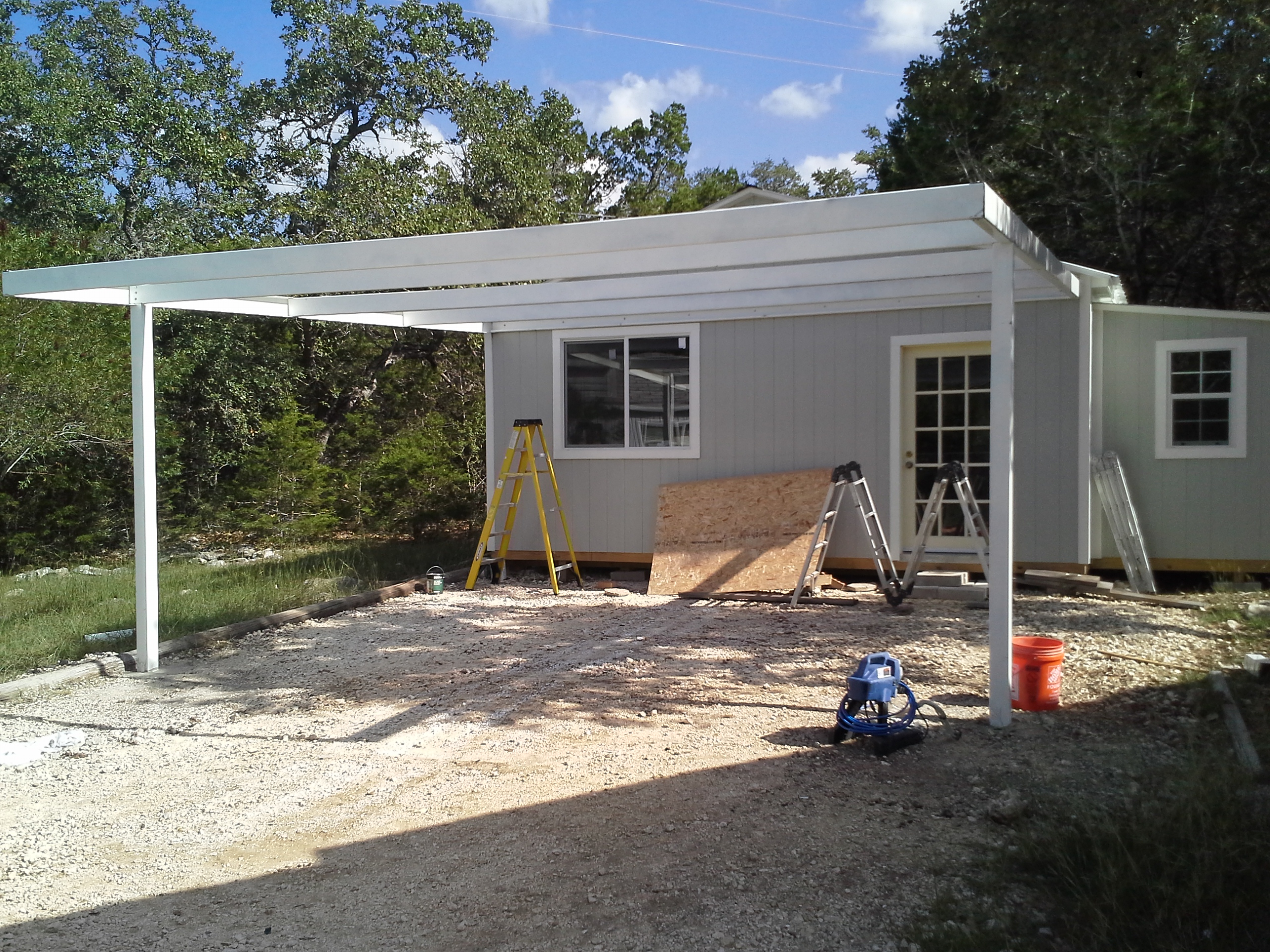 Cotulla texas attached custom all steel carport carport for 20x20 house