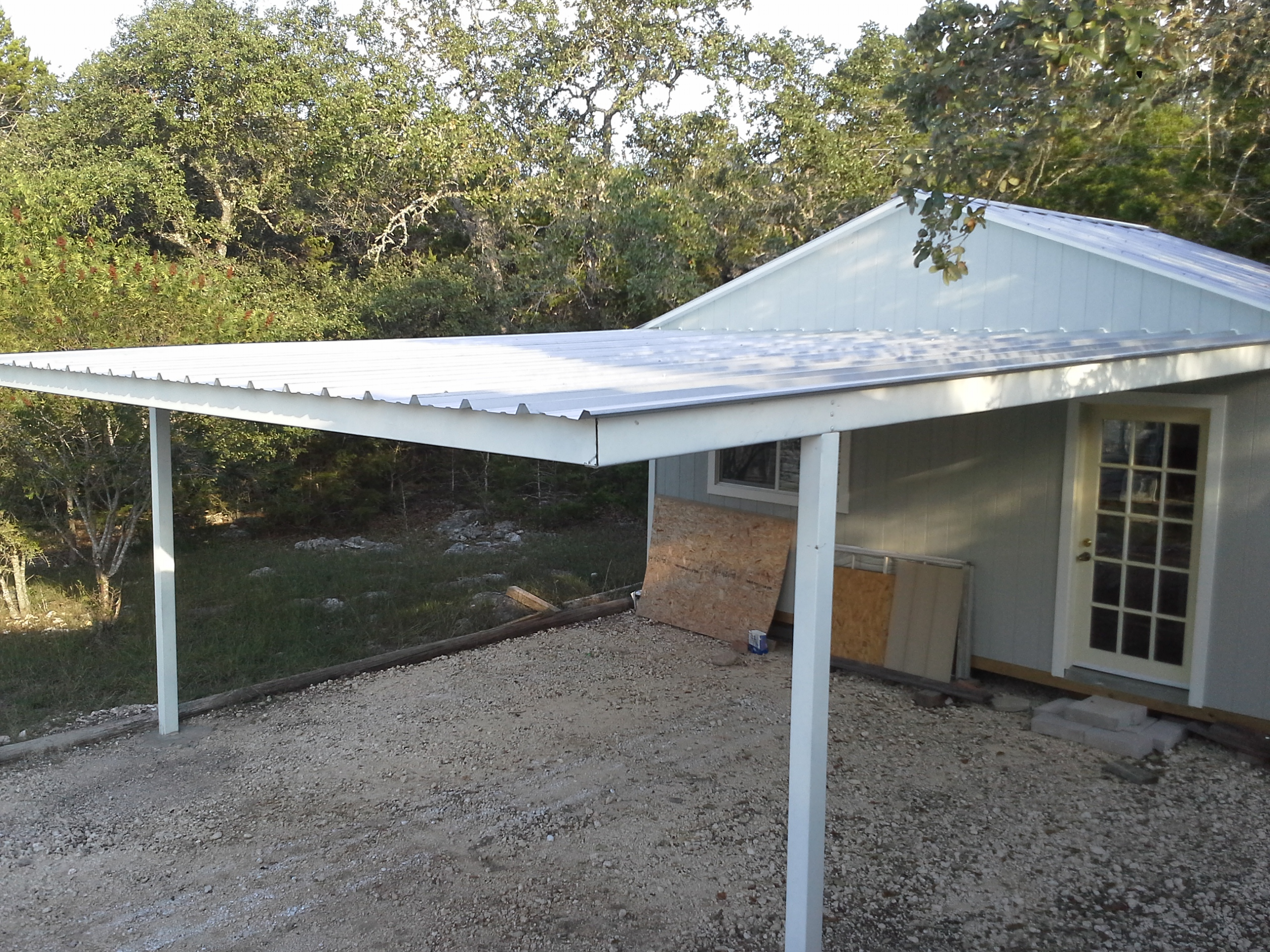 Metal Carports Attached To House : Cotulla texas attached custom all steel carport
