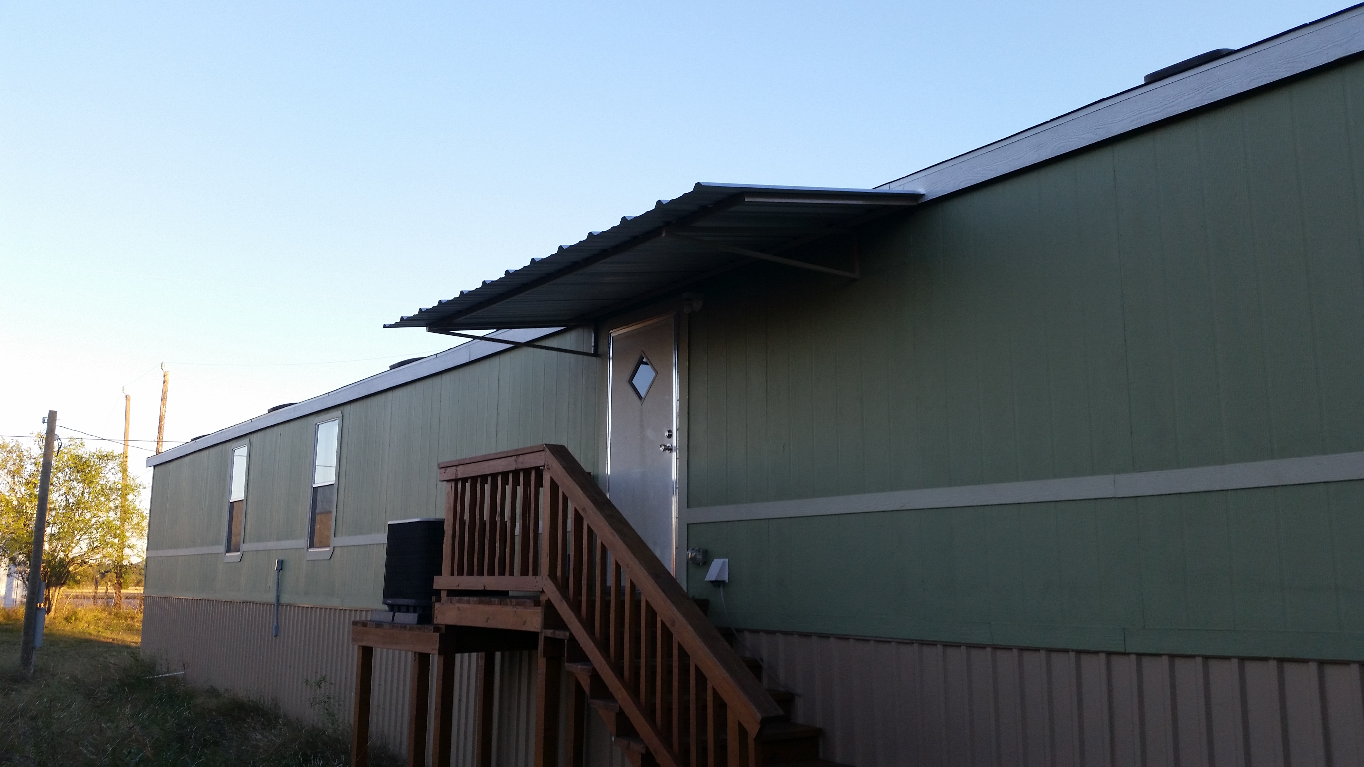 Manufactured Home Carports Awnings : Front and back awning with carport attached to mobile home