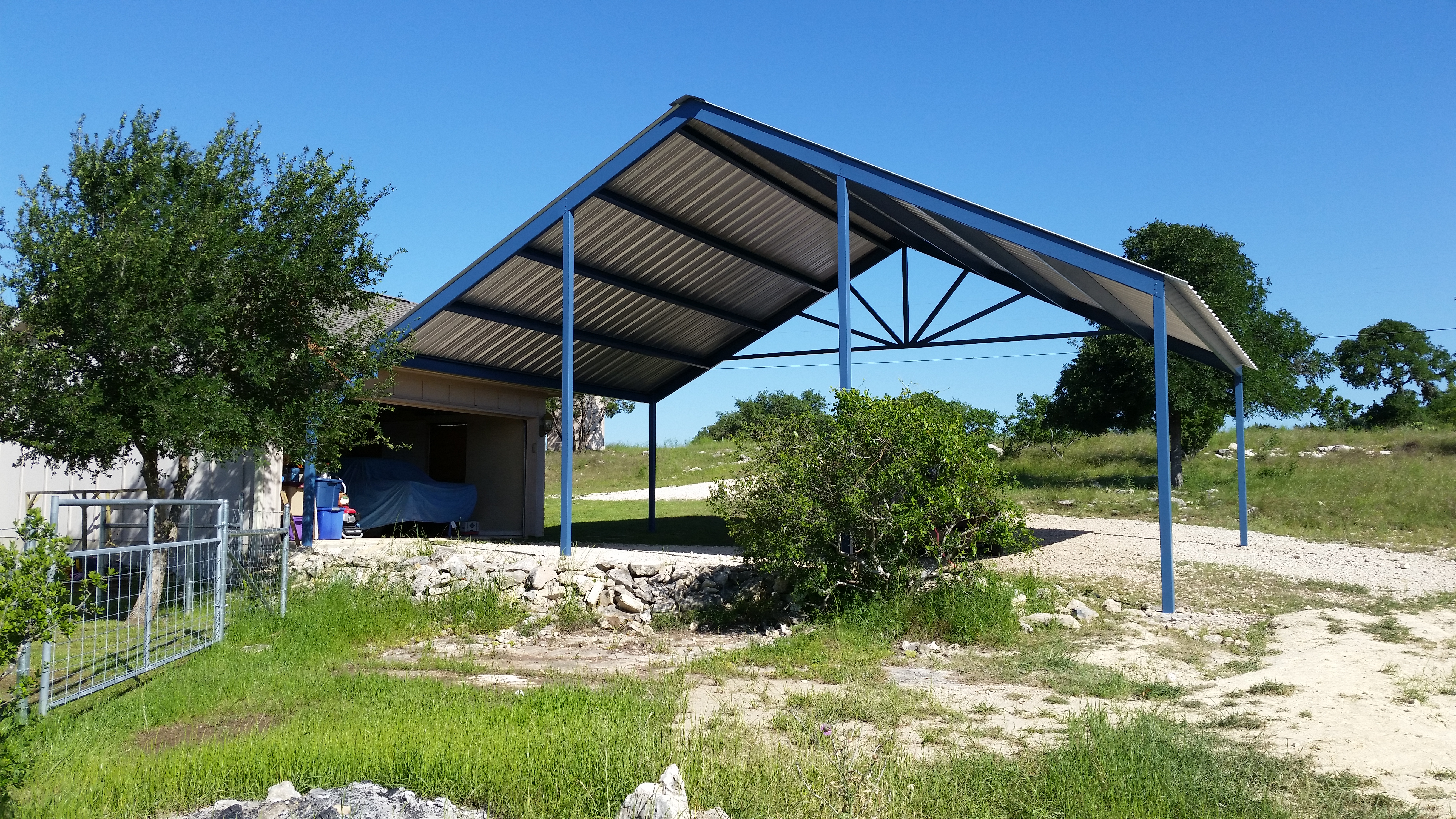 Custom Gabled Carport With Sunburst Boerne Tx Carport