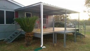 Lytle Texas 14'x21' Patio Deck and Awning