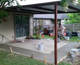 NW San Antonio  Carport with Concrete