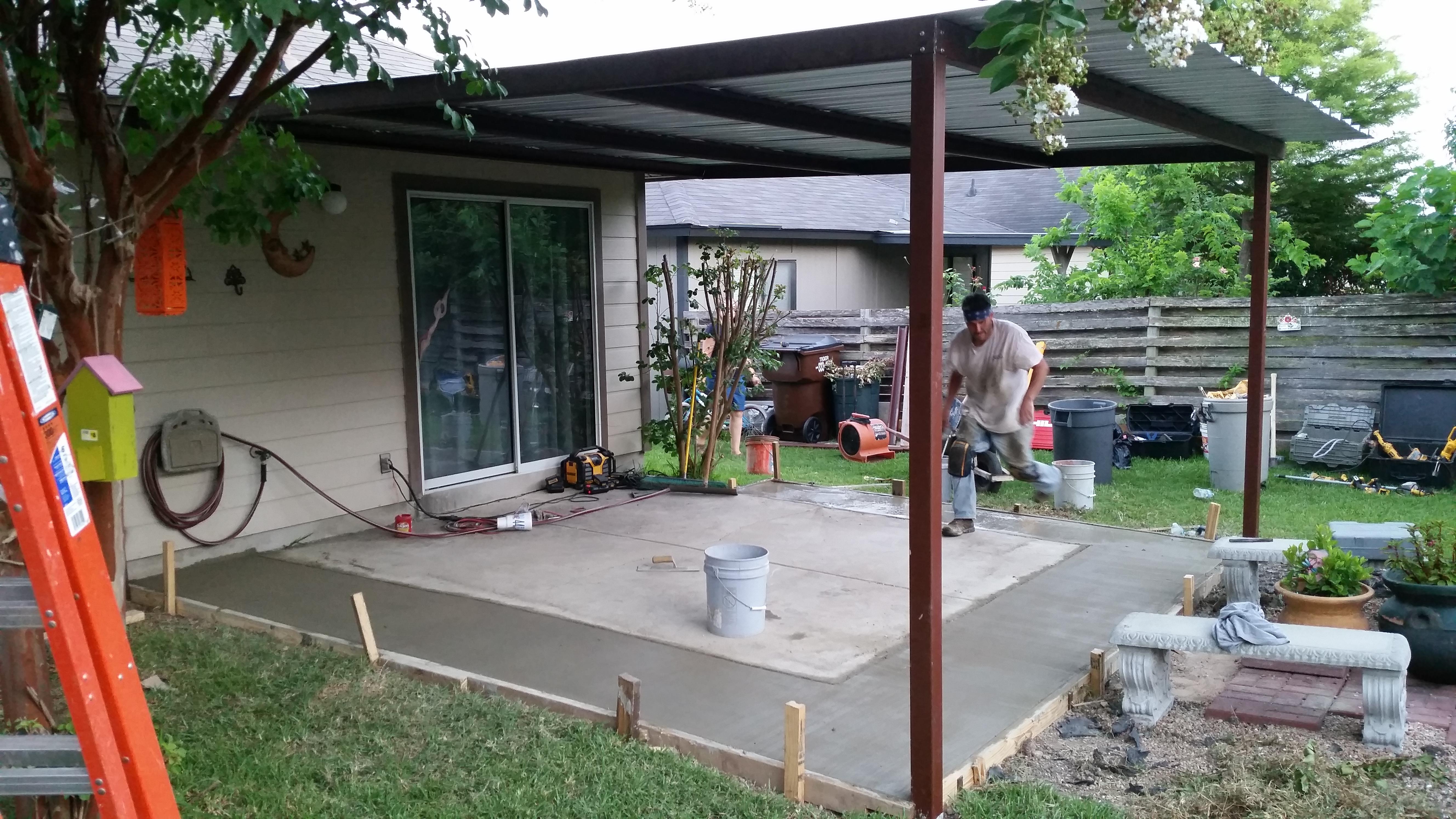 Added Concrete Carport Patio Covers Awnings San Antonio