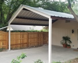 North San Antonio 18'x18′ Custom Gabled Carport