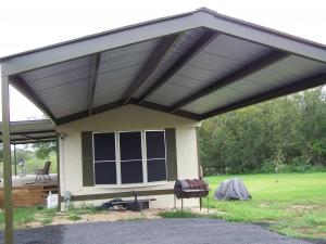 Mobile Home Metal Roof Awning Carport La Vernia