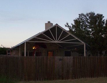 Beautiful Sunburst Patio Cover Gabled Style San Antonio