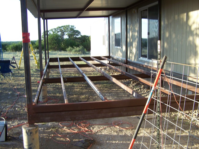 Ranch Trailer Patio Cover Deck Railing Before After Pictures