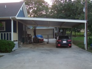 Metal Carport Awning Patio Cantilever Cover Swimming Pool South Bexar County