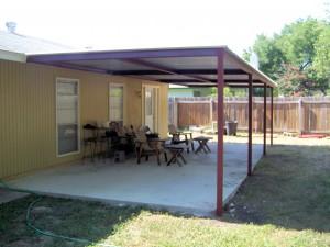 Simple Porch Cover Northwest San Antonio