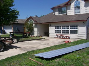 Carport Porch addition 21x30