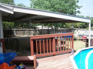 Encino Park Wooden To Metal Patio Awning