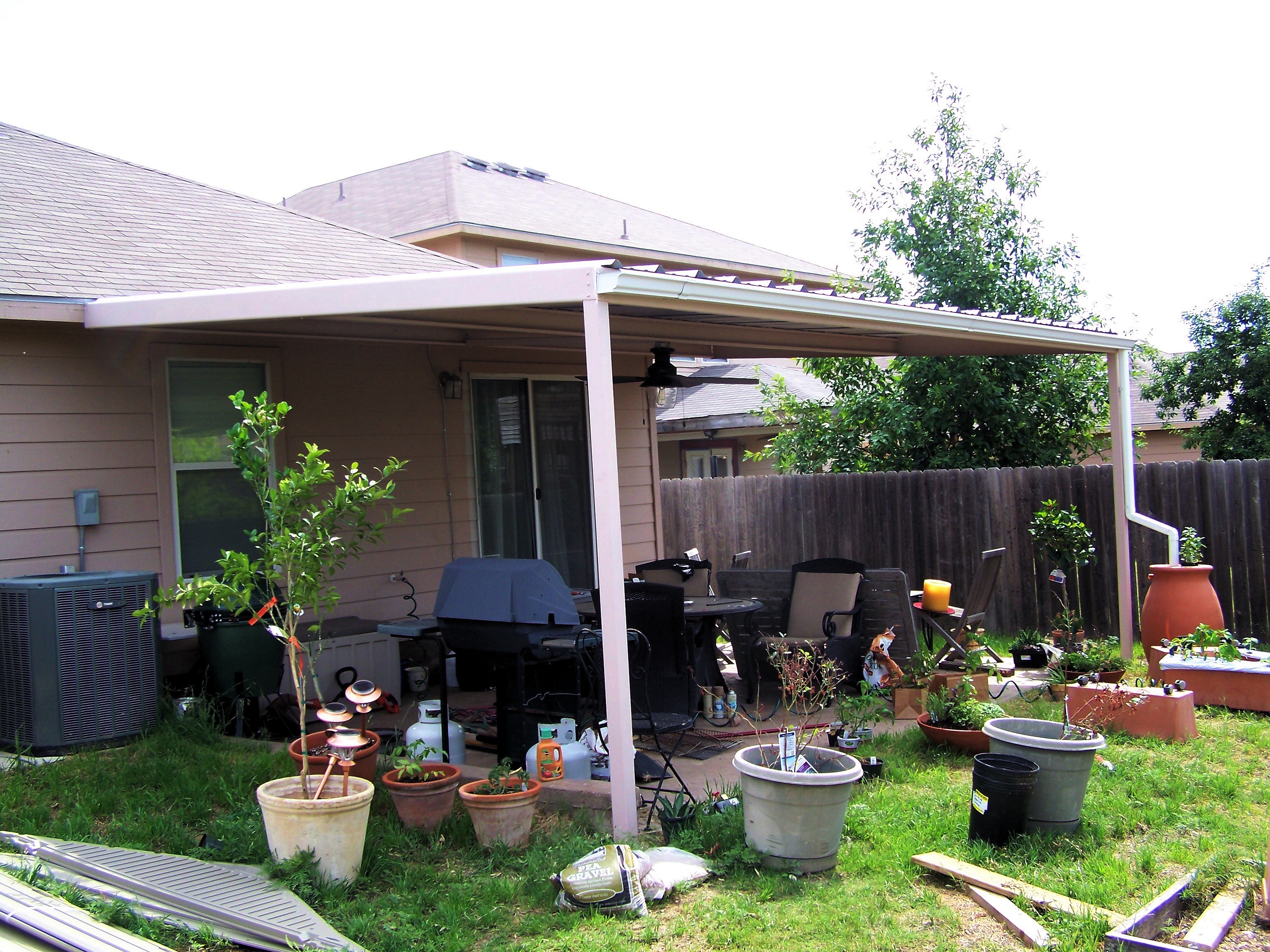 Simple Custom Patio Cover NorthWest San Antonio - Carport ... on Ideas For Patio Covers  id=53880
