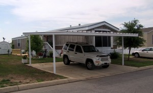 Detached Custom White Carport Leslie Road San Antonio