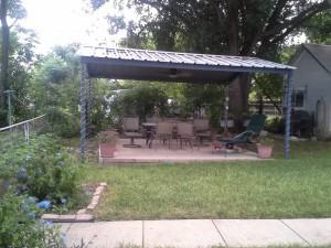 McQueeny Texas Free Standing Metal Pavillion