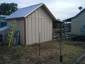 Gabled Carport and Lean To Awning Wimberly, Texas