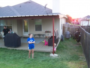 Hutto, Texas Attached Porch Awning