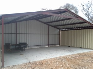 Gabled Enclosed Attachment, Floresville, Texas