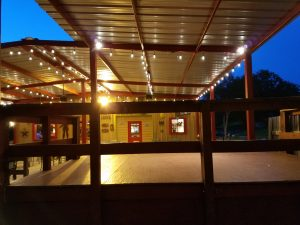 Sandra's Cantina, Patio view with lights