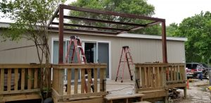 Small Deck and Patio Cover Wilson County Halfway