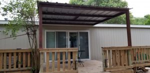 Small Deck and Patio Cover Wilson County Front
