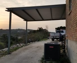 20′ x 20′ Attached Metal Carport Mico, Texas